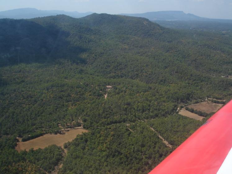 le relais vu d'avion
